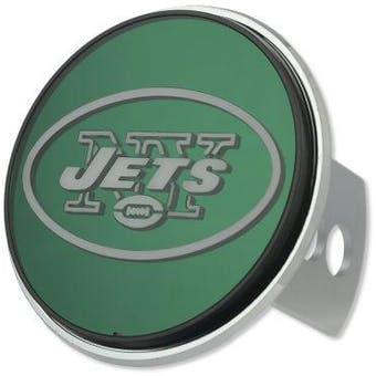 """New York Jets Rico Industries 4 """" Laser Trailer Hitch Cover"""