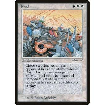 Magic the Gathering Arabian Nights Single Jihad - MODERATE PLAY (MP) inked left edge Sick Deal Pricing