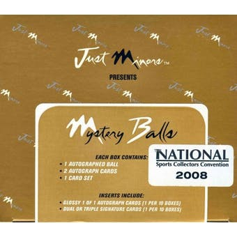 2007 Just Minors Mystery Balls Baseball Hobby Box