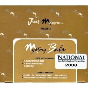 2007 Just Minors Mystery Balls Baseball Hobby Box