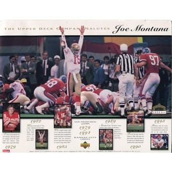 1995 Upper Deck Joe Montana Commemorative Sheet Lot of 10