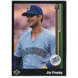 1989 Upper Deck Jim Presley Seattle Mariners #642 Black Border Proof