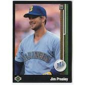 1989 Upper Deck Jim Presley Seattle Mariners #642 Black Border Proof