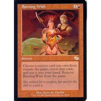 Magic the Gathering Judgment Single Burning Wish - NEAR MINT (NM)