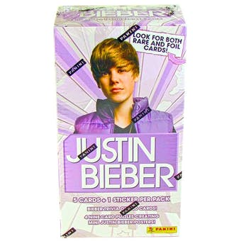 Justin Bieber Blaster 9-Pack Box (2010 Panini) (Lot of 100)