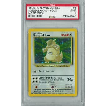 Pokemon Jungle No Set Symbol Error Kangaskhan 5/64 PSA 9