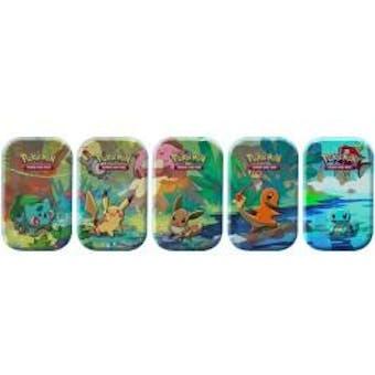 Pokemon Kanto Friends 5 Tin Set