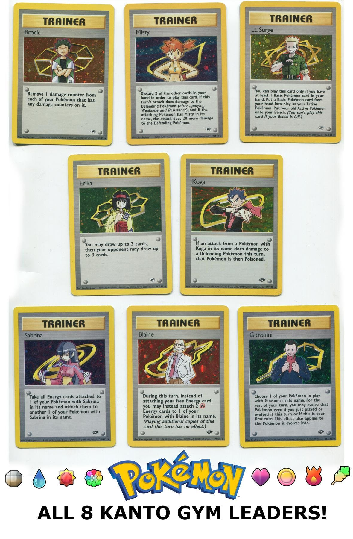 c89705469b35 Pokemon Gym Expansion Lot - All Eight Kanto Gym Leaders!
