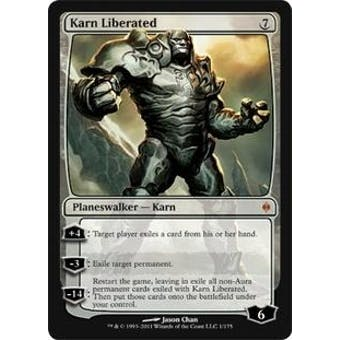 Magic the Gathering New Phyrexia Single Karn Liberated Foil - NEAR MINT (NM)