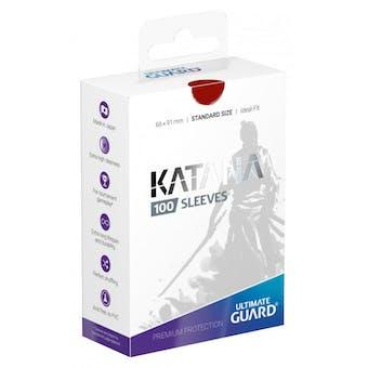 Ultimate Guard Katana Deck Protectors - Red (100)