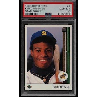 1989 Upper Deck Ken Griffey Jr PSA 10 card #1