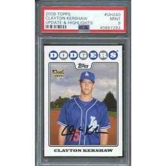 2008 Topps Clayton Kershaw PSA 9 card #UH240