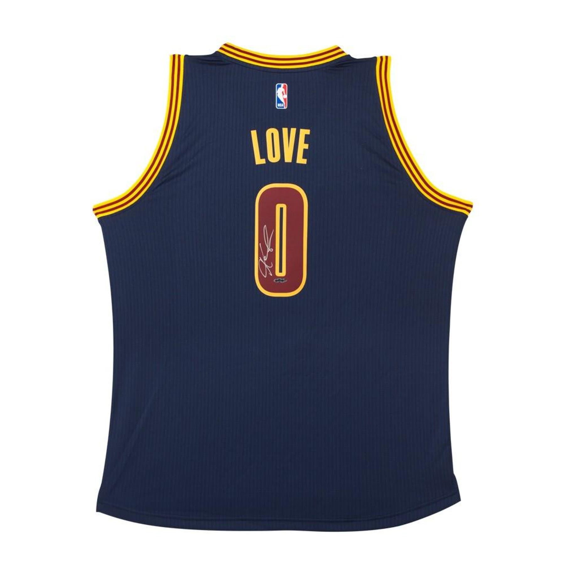 sports shoes 0f226 92b27 Kevin Love Autographed Cleveland Cavaliers Alternate Blue Basketball Jersey  UDA