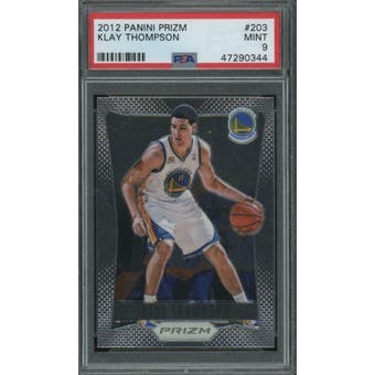 2012/13 Panini Prizm Klay Thompson PSA 9 card #203