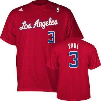 Chris Paul Los Angeles Clippers Red Adidas Gametime T-Shirt (Adult XL)