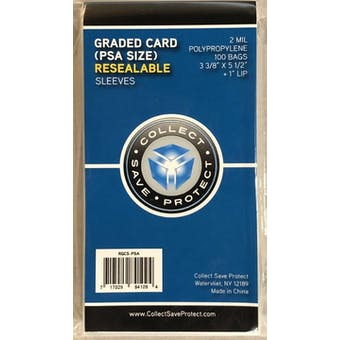 Collect Save Protect Resealable Graded Card Sleeve (100 Ct.)