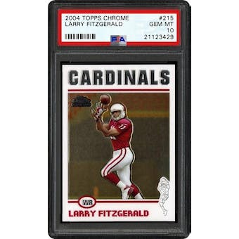 2004 Topps Chrome Larry Fitzgerald PSA 10 card #215