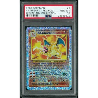 Pokemon Legendary Collection Reverse Foil Charizard 3/110 PSA 10 GEM MINT