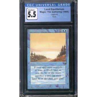 Magic the Gathering Legends Land Equilibrium CGC 5.5