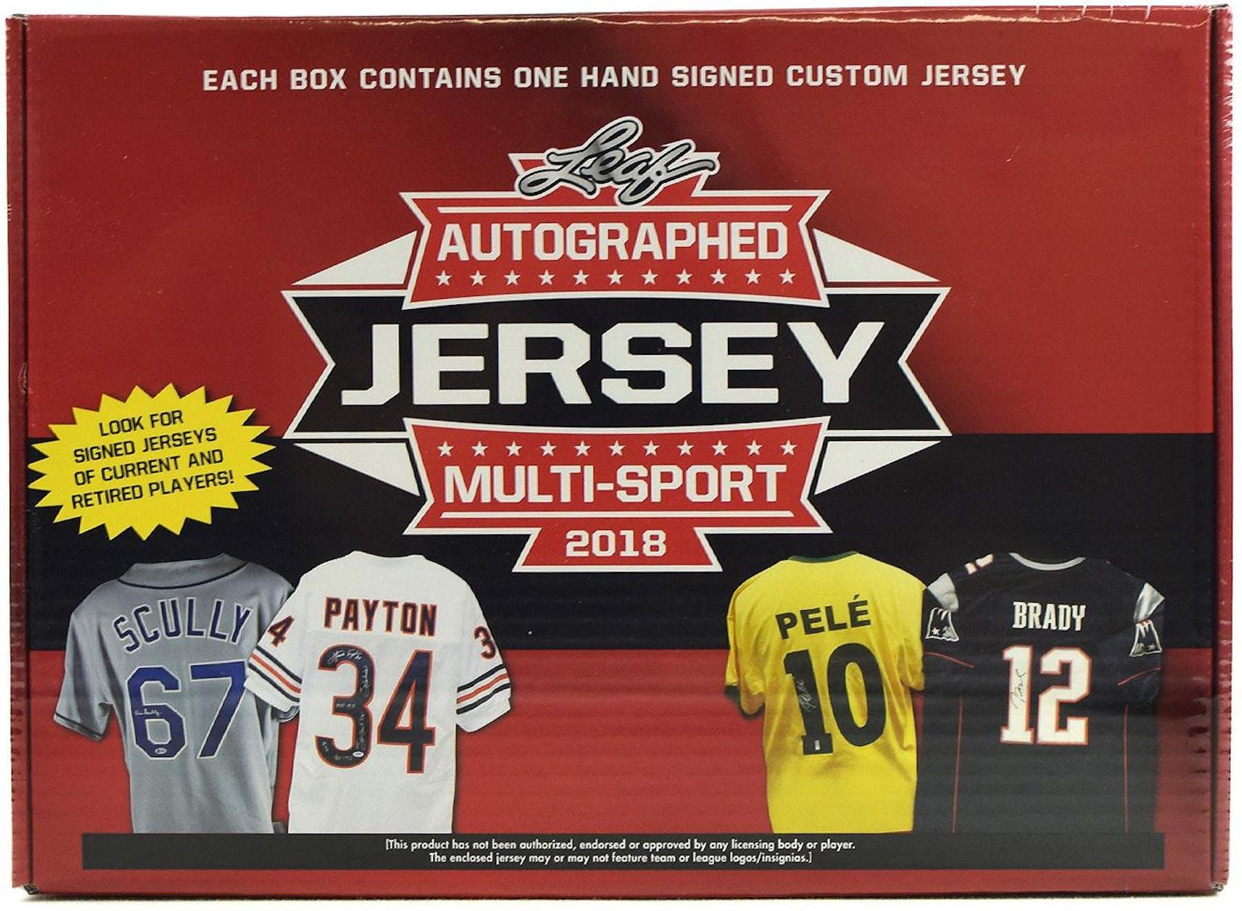 2018 Leaf Autographed Jersey Multi-Sport Hobby Box   DA ...