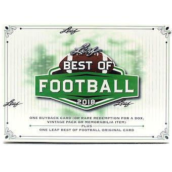 2018 Leaf Best Of Football Hobby Box