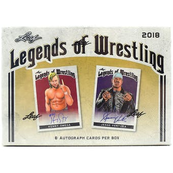2018 Leaf Legends of Wrestling Three Hobby Box- DACW Live 12 Spot Random Hit Break