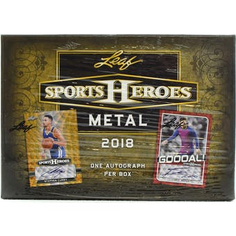 2018 Leaf Metal Sports Heroes Hobby Box