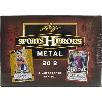 2018 Leaf Metal Sports Heroes Hobby Jumbo Box