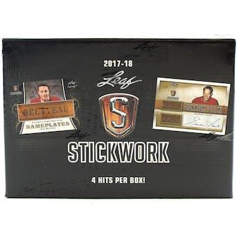 2017/18 Leaf Stickwork Hockey Hobby Box