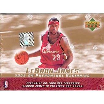 2003/04 Upper Deck LeBron James PHENOMenal Beginning Basketball Set (box)
