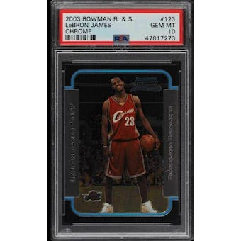 2003/04 Bowman Chrome Lebron James PSA 10 card #123