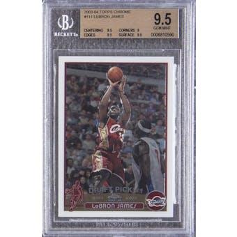 2003/04 Topps Chrome Lebron James BGS 9.5 card #111
