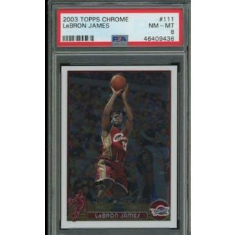 37712 Topps Chrome Lebron James PSA 8 card #111
