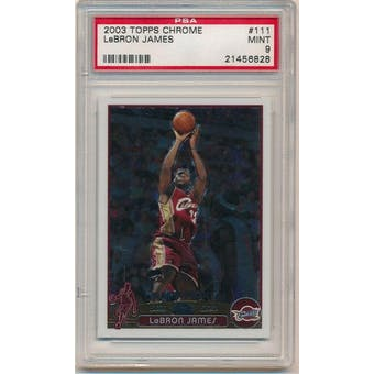 37712 Topps Chrome Lebron James PSA 9 card #111