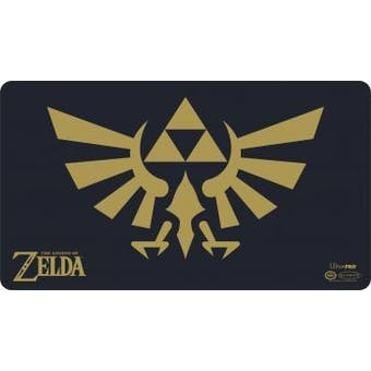 CLOSEOUT - ULTRA PRO THE LEGEND OF ZELDA BLACK & GOLD PLAYMAT