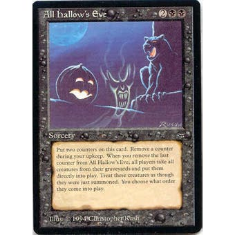 Magic the Gathering Legends Single All Hallow's Eve - SLIGHT PLAY (SP)