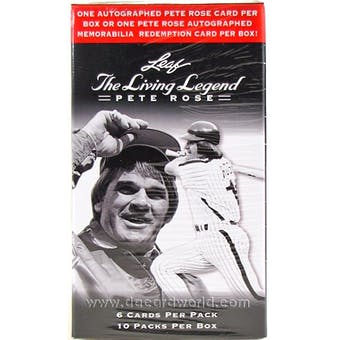 2012 Leaf The Living Legend - Pete Rose Baseball Hobby Box