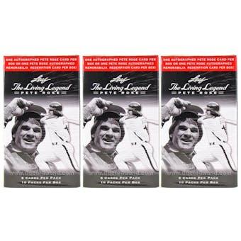 2012 Leaf The Living Legend - Pete Rose Baseball Hobby Box (Lot of 3)