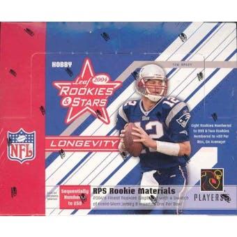 2004 Leaf Rookies & Stars Longevity Football Hobby Box