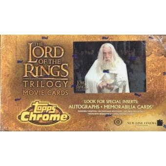 Lord of the Rings Trilogy Hobby Box (2004 Topps Chrome)