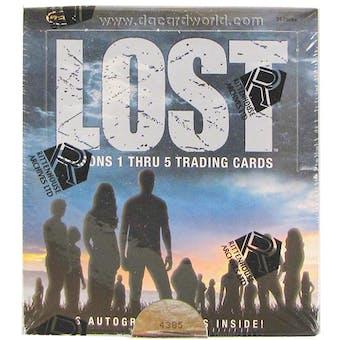 Lost Seasons 1 - 5 Trading Cards Box (Rittenhouse 2010)