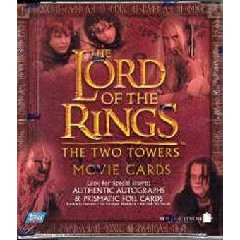 Lord of the Rings The Two Towers Movie Cards 24 Pack Box (Topps)
