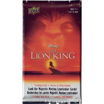Disney's The Lion King Trading Cards 100-Pack Lot (Upper Deck 2020)