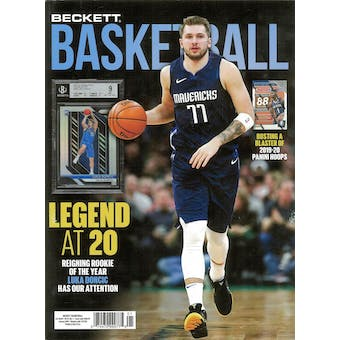 2020 Beckett Basketball Monthly Price Guide (#328 January) (Luca Doncic)