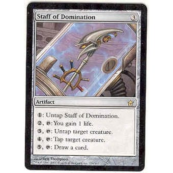 Magic the Gathering Fifth Dawn Single Staff of Domination - NEAR MINT (NM)
