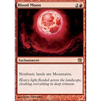 Magic the Gathering 9th Edition Single Blood Moon Foil NEAR MINT (NM) Sick Deal Pricing