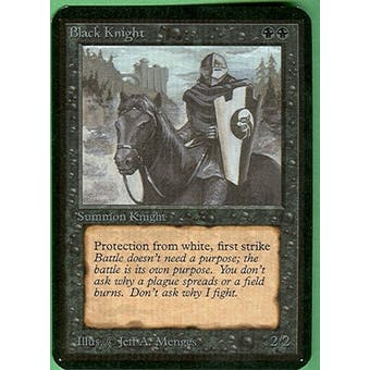 Magic the Gathering Alpha Single Black Knight - NEAR MINT (NM)