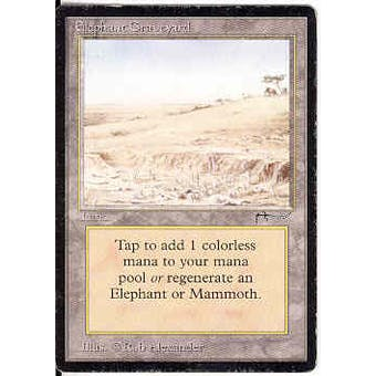 Magic the Gathering Arabian Nights Single Elephant Graveyard - HEAVY PLAY (HP)