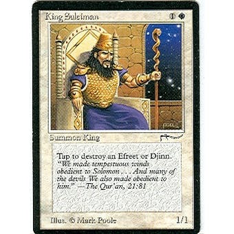 Magic the Gathering Arabian Nights Single King Suleiman - SLIGHT PLAY (SP) Sick Deal Pricing
