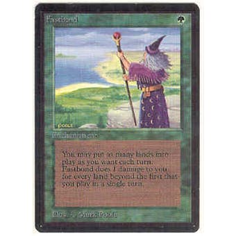 Magic the Gathering Beta Single Fastbond - MODERATE PLAY (MP) - Surface Scratches